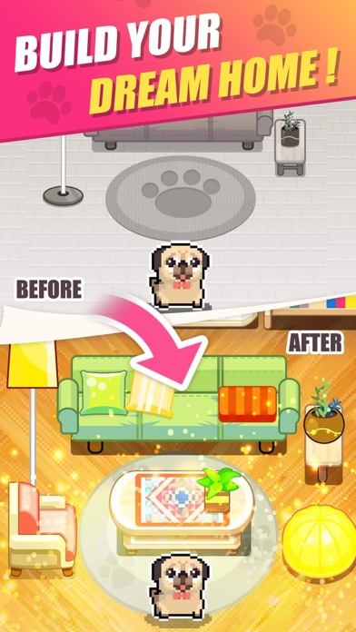 Pet Home Design & Pixel Puzzle Screenshot
