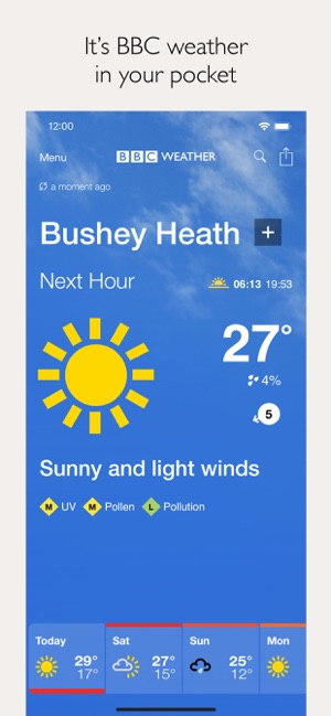 Why is AccuWeather better than BBC Weather?