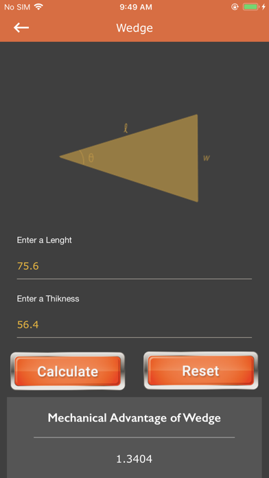 Calc of Plane and Pulley screenshot 5