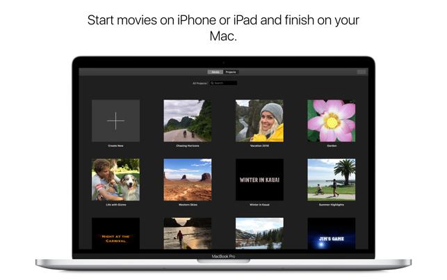 iMovie on the Mac App Store