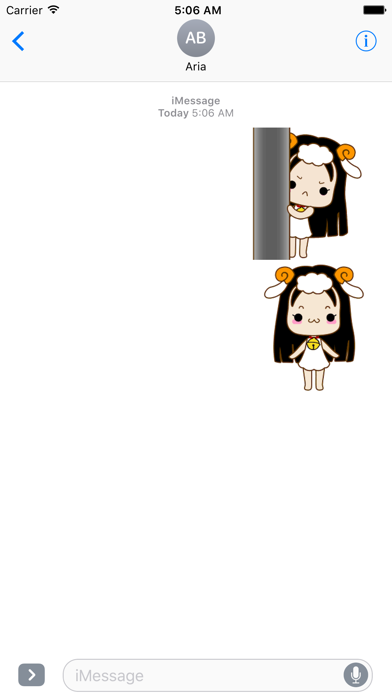 Animated Cute Aries Girl Emoji screenshot 1