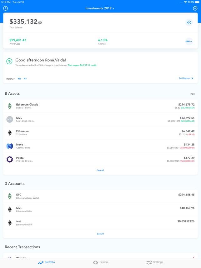 Blox Crypto Portfolio Tracker on the App Store