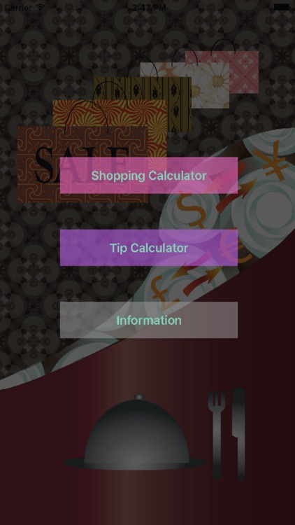 ShopNDineCal-sales and tip cal