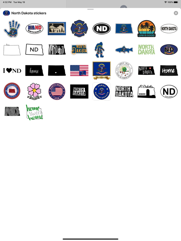 North Dakota - USA stickers screenshot 4