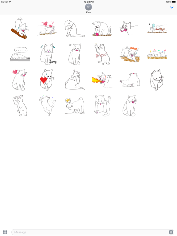 Lovely Pose of Cat Sticker screenshot 5