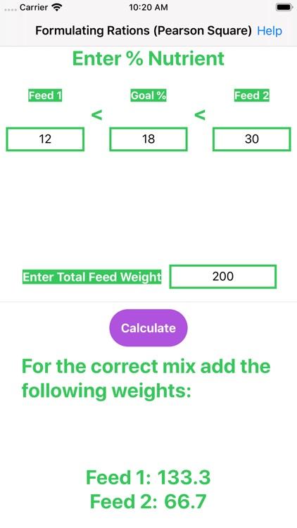 Feed Mix Calculator