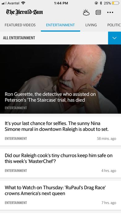 Durham Herald Sun screenshot four