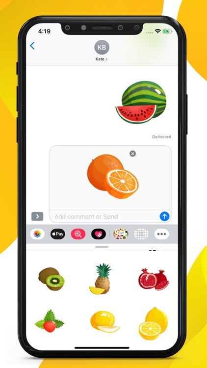 Fruit Delicious Stickers