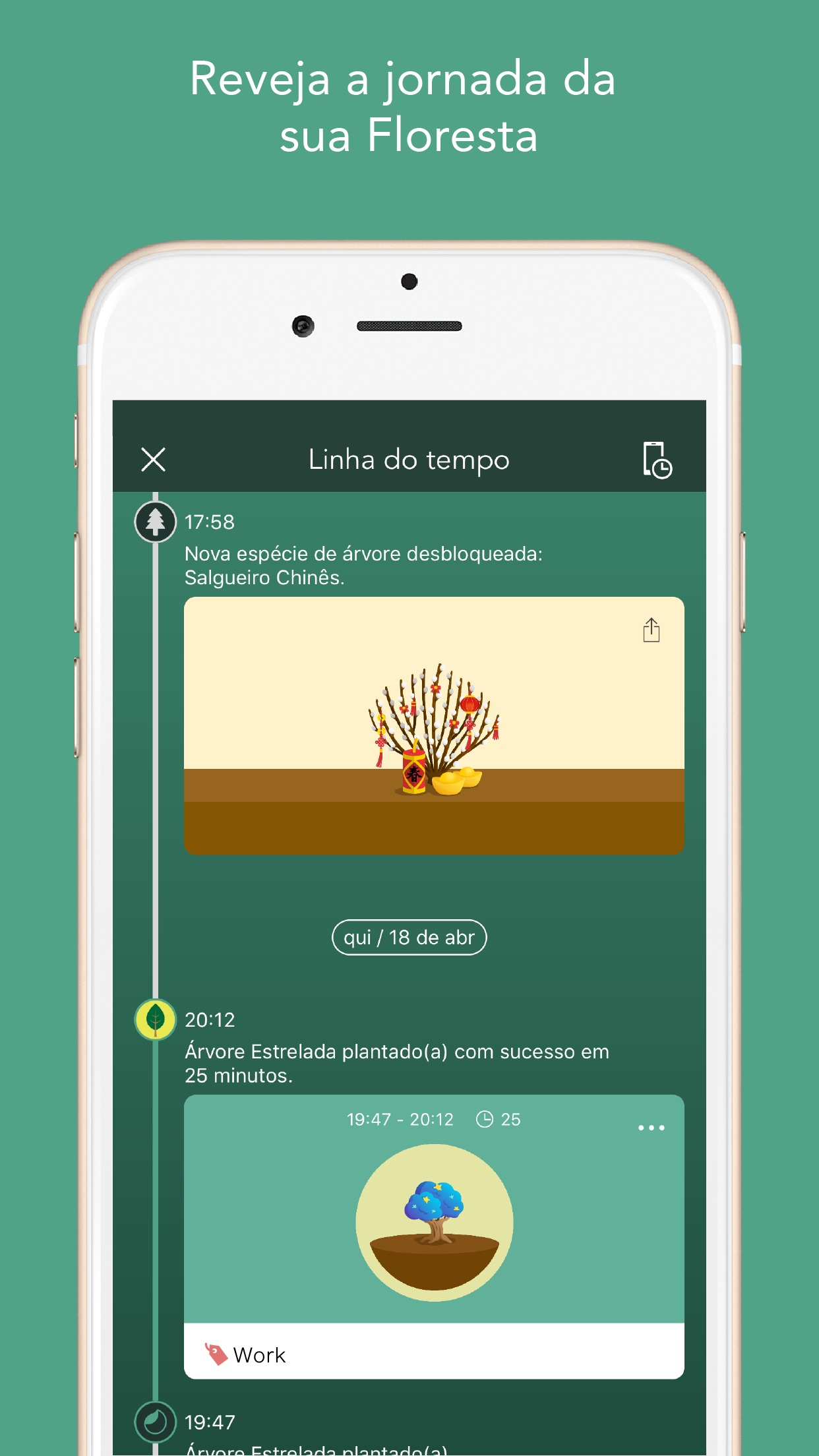 Screenshot do app Forest