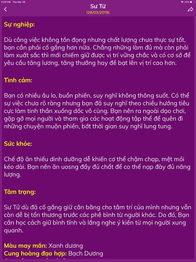 Cung Hoang Dao Hang Ngay