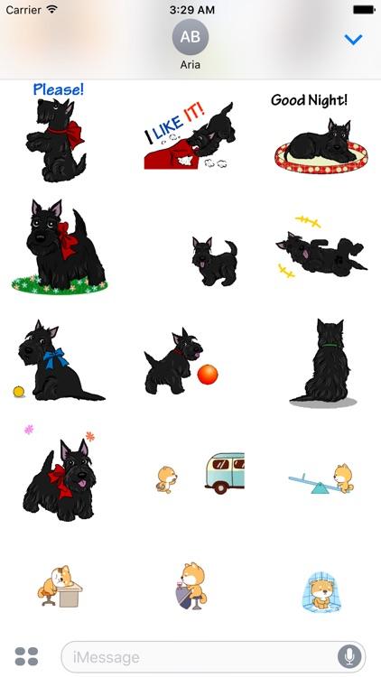 Animated Scottie & Lonely Dog