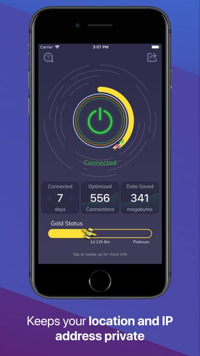 Luna — Best VPN for iPhone Screenshot on iOS