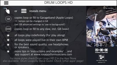 Screenshot #1 pour Drum Loops HD