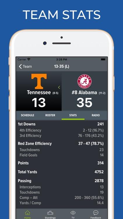 Tennessee Football Schedules screenshot-4