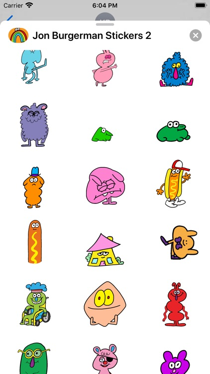 Jon Burgerman Stickers 2 screenshot-1