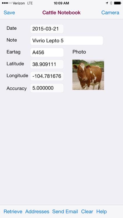 Cattle Notebook for iPhone screenshot-4