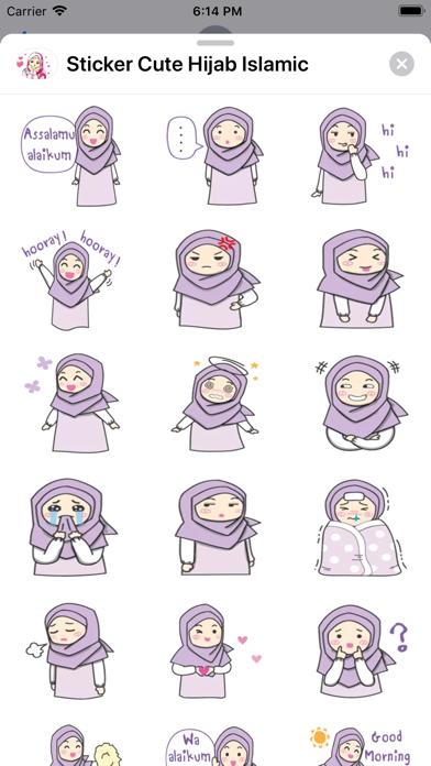 Sticker Cute Hijab Islamic Screenshot