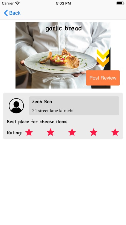 Food ReviewZee screenshot-5