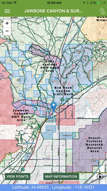 OHV Trail Map California screenshot-3