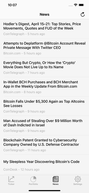 Coin Ticker: Bitcoin & Altcoin on the App Store