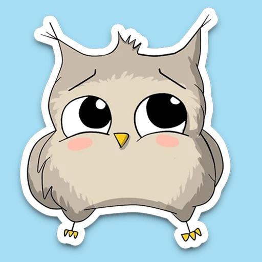 Owl emoji - Funny stickers