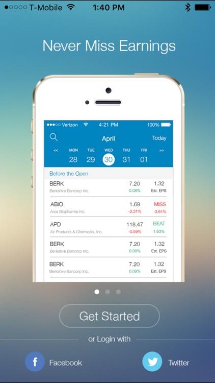 EarningShark-Earnings Calendar screenshot-0