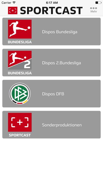 Sportcast - Dispo-AppScreenshot von 2