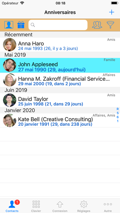 Screenshot #2 pour ContactsPro X