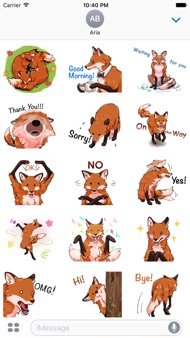 Red Fox FoxMoji Stickers iphone images