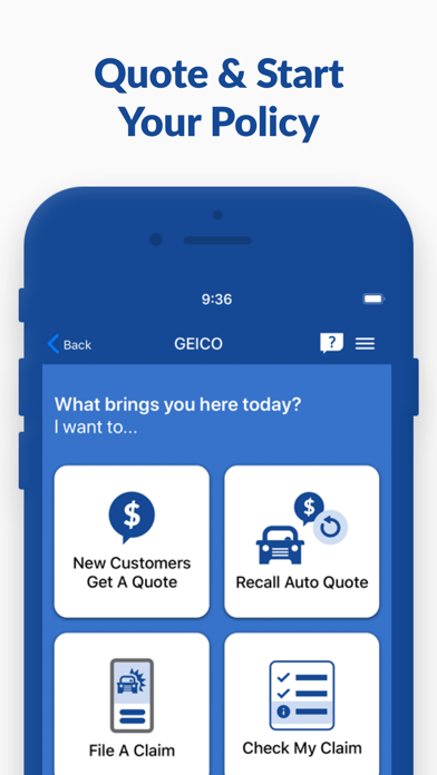 Screenshot for GEICO Mobile - Car Insurance in United States App Store