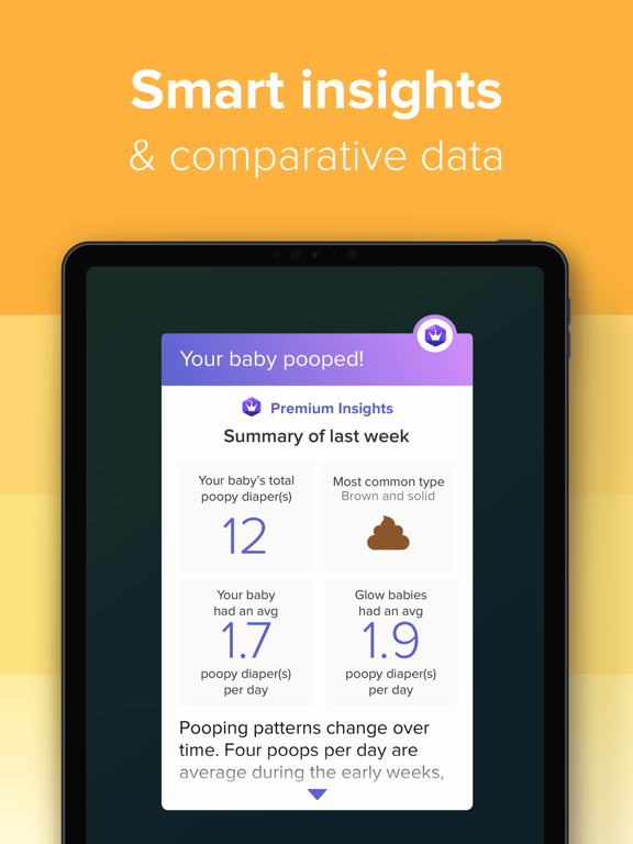 Glow Baby - Baby Tracker of Breastfeeding, Diapers screenshot