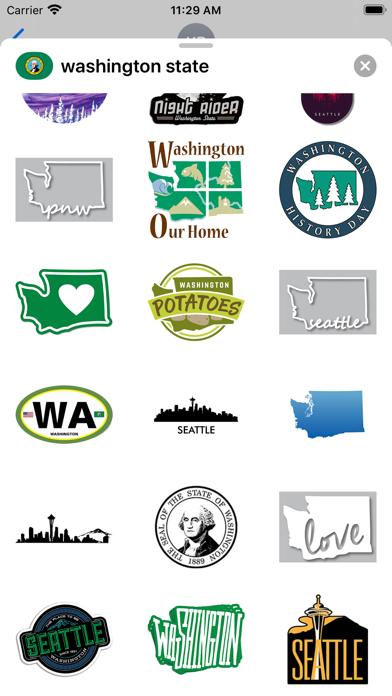 Washington state - USA emoji screenshot 2