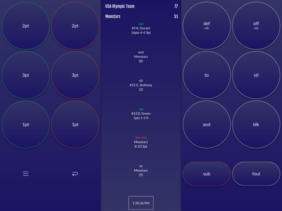 Screenshot #4 pour Easy Stats for Basketball
