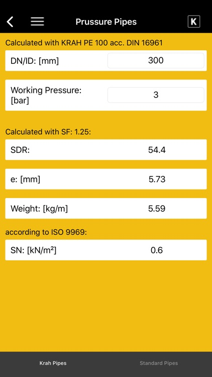 KRAH Pipe Calculation screenshot-4