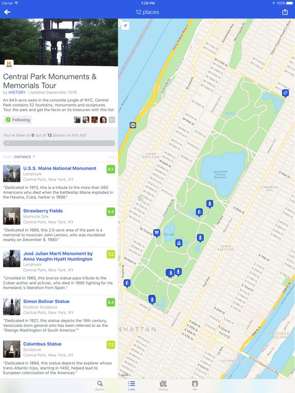Foursquare City Guide iPad