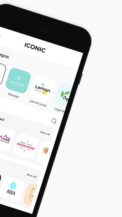 アイコニック:ロゴメーカーとブランディング、ロゴの作成のスクリーンショット2