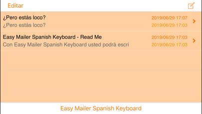 Easy Mailer Spanish Keyboardのおすすめ画像4