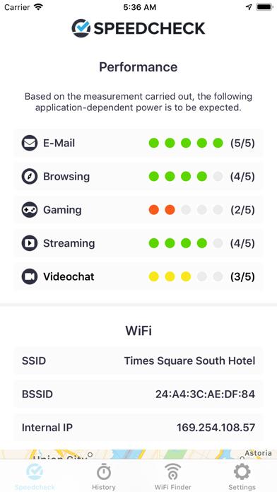 Internet Speed Test Speedcheck iPhone app afbeelding 2