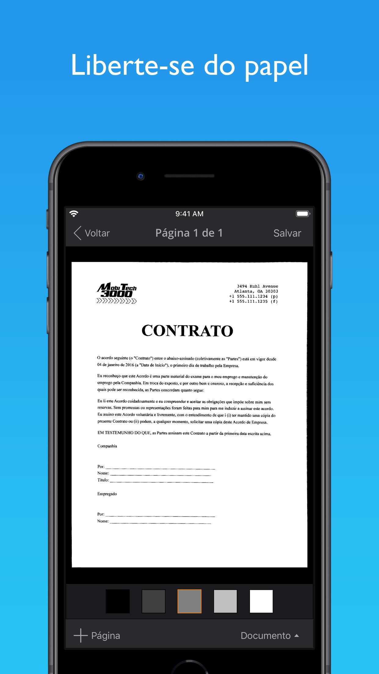 Screenshot do app JotNot Pro Scanner
