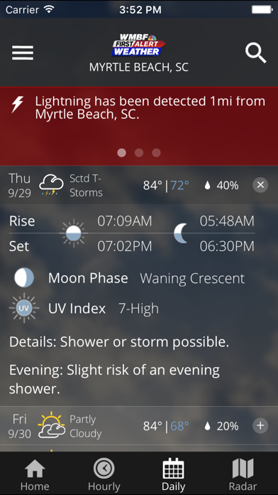Wmbf First Alert Weather review screenshots