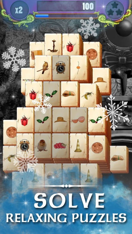 Christmas Solitaire Mahjong screenshot-0