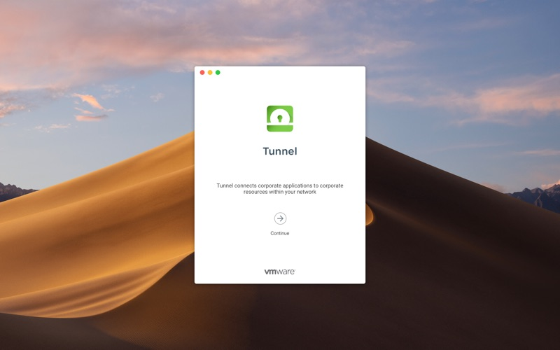 VMware Tunnel Screenshot