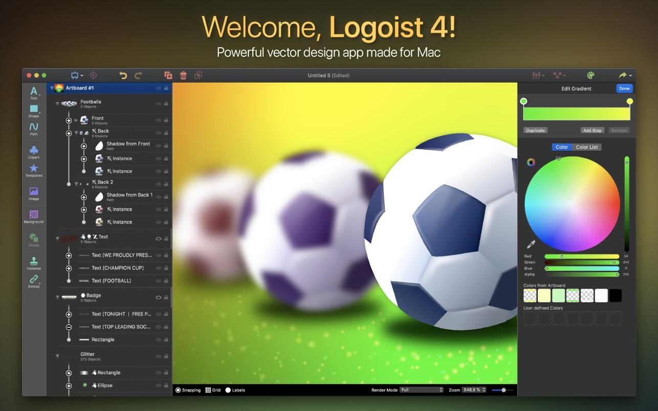 Logoist 4.2 Mac 中文破解版 强大易用的图标设计制作工具
