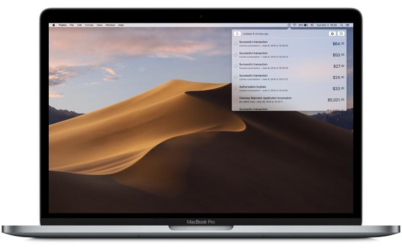 Tramo - Transaction Monitor for Mac