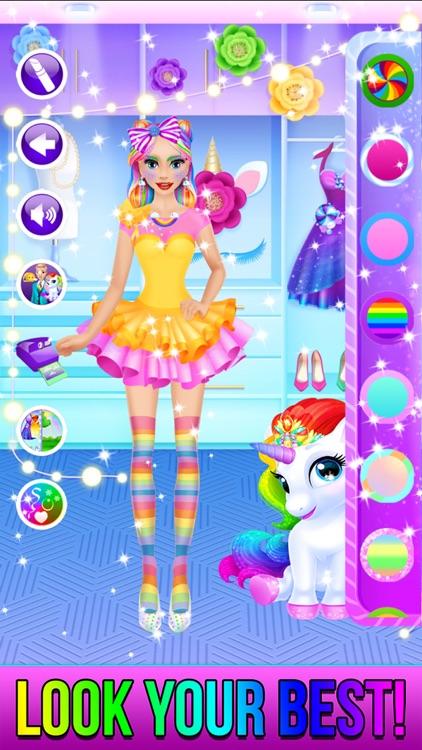 Rainbow Unicorn Candy Salon screenshot-4