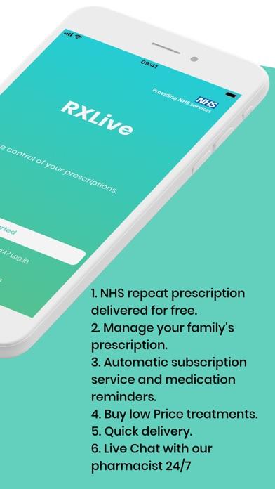 RXLive - NHS prescriptions screenshot two