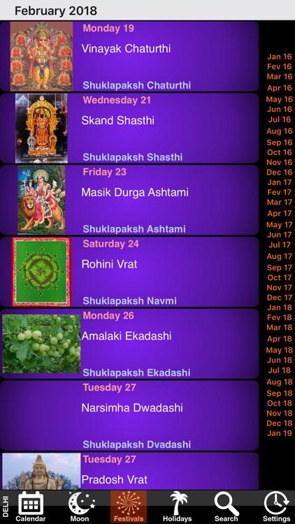 India Panchang Calendar 2018 screenshot-3