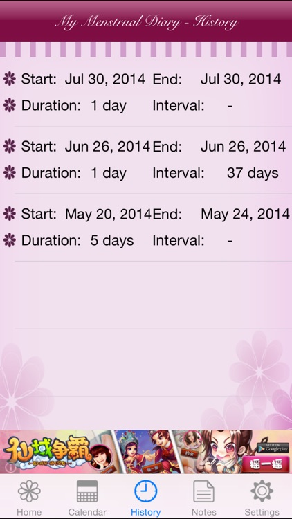 My Menstrual Diary screenshot-2