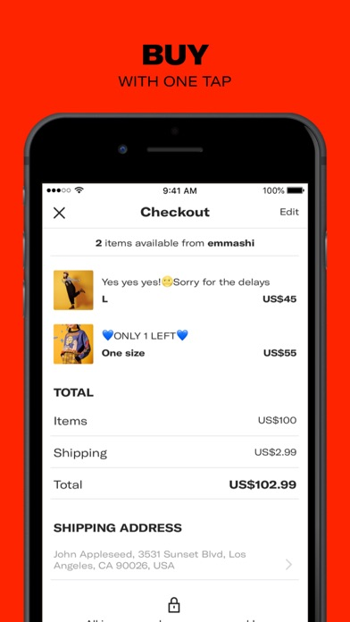 Depop review screenshots
