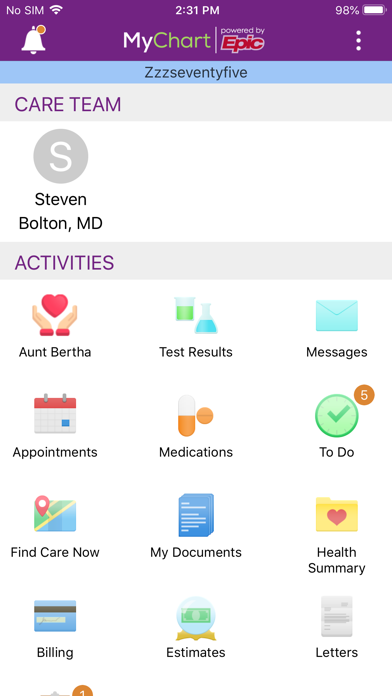 messages.download Trinity Health MyChart software
